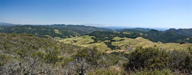 Panoramic view from the Froom Trail in San Luis Obispo