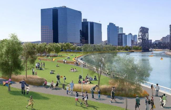 Newark Riverfront Park's planned waterfront  Newark Riverfront Park's planned waterfront
