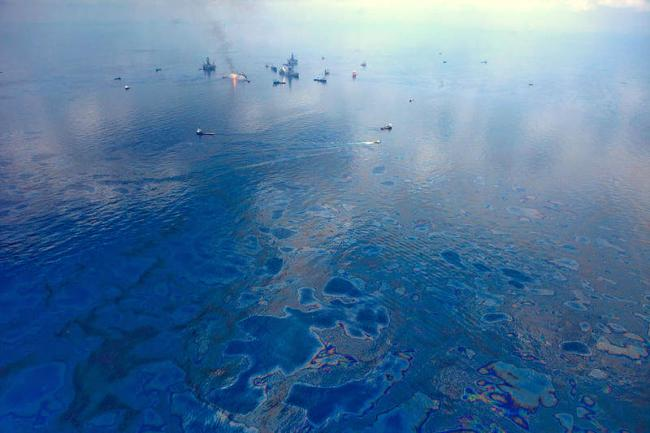 Aerial view of the Deepwater Horizon disaster