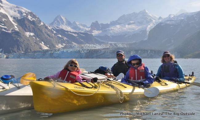 Michael Lanza and family at Glacier Bay National Park