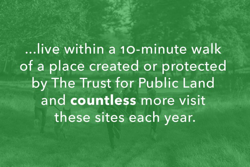 ...live within a 10-minute walk of a park.