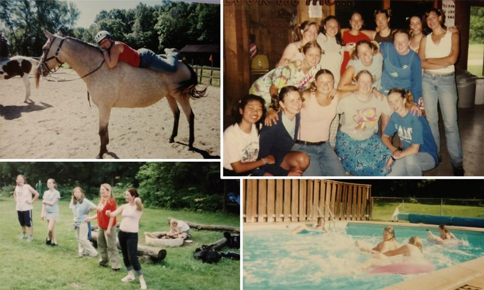 A collage of scenes from summer camp
