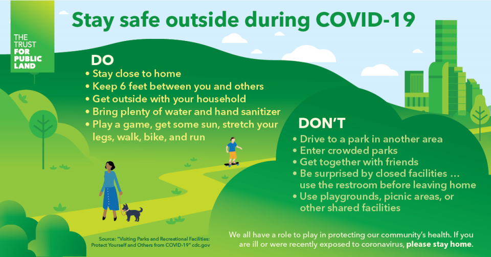 Information about staying safe outside during COVID-19