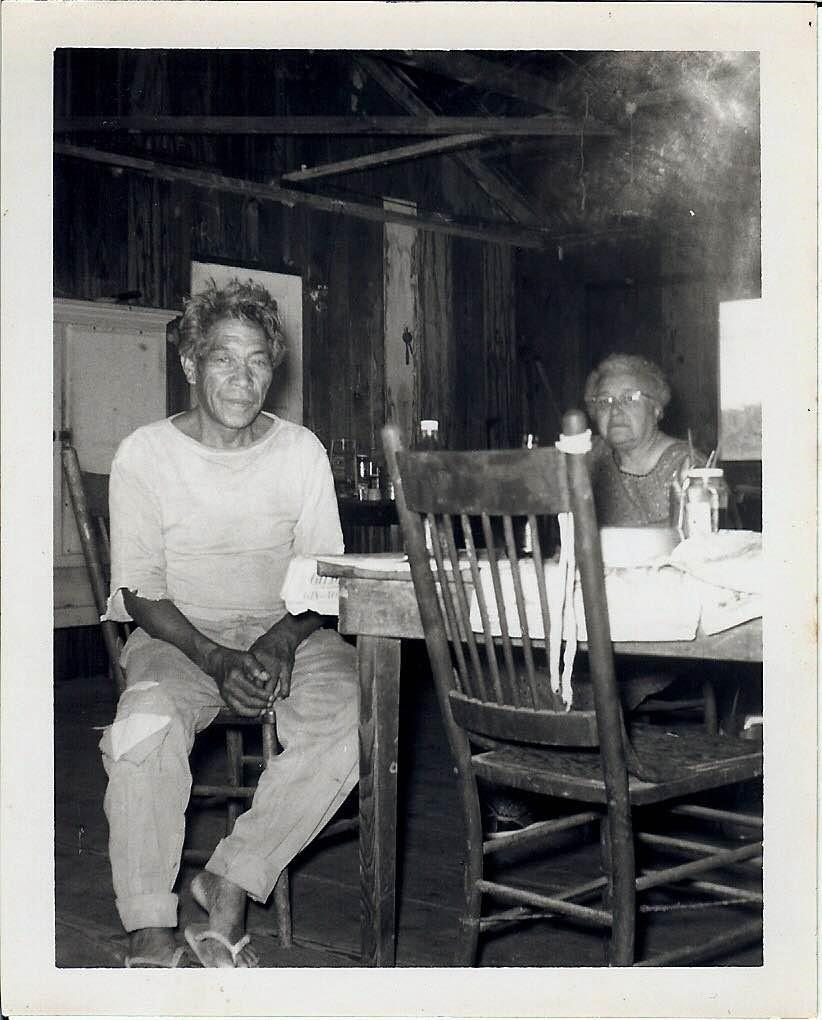 Mary Kawena Pukui gathering oral histories at Waikapuna in 1960