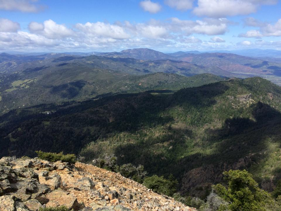 View from the north peak of Mt. Saint Helena