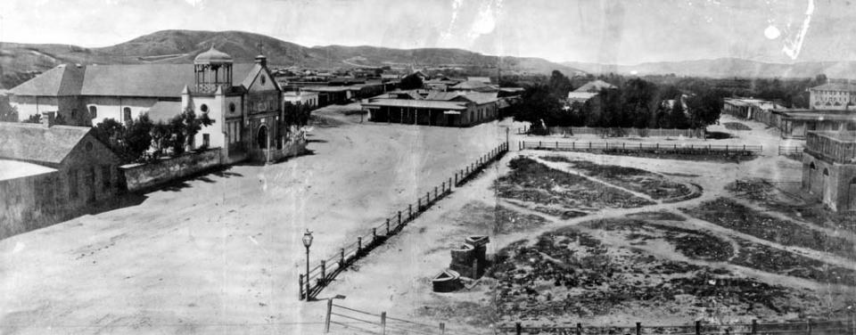 Los Angeles Plaza in 1869