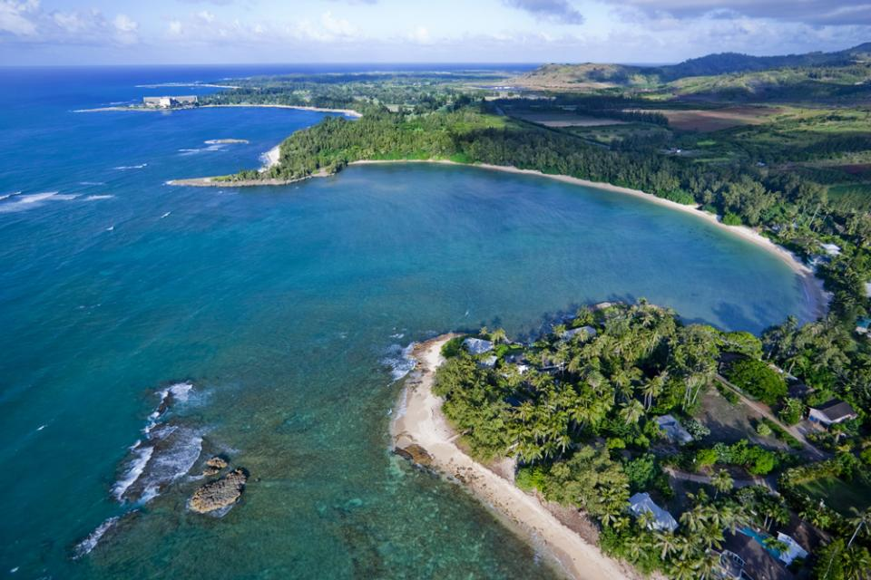 Turtle bay from the air