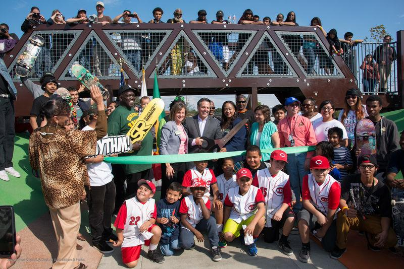 Ribbon-cutting at Watts Serenity Park, CA
